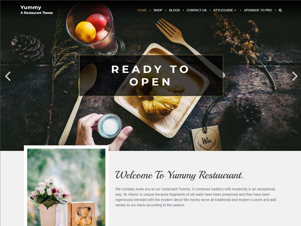 wordpress free food themes