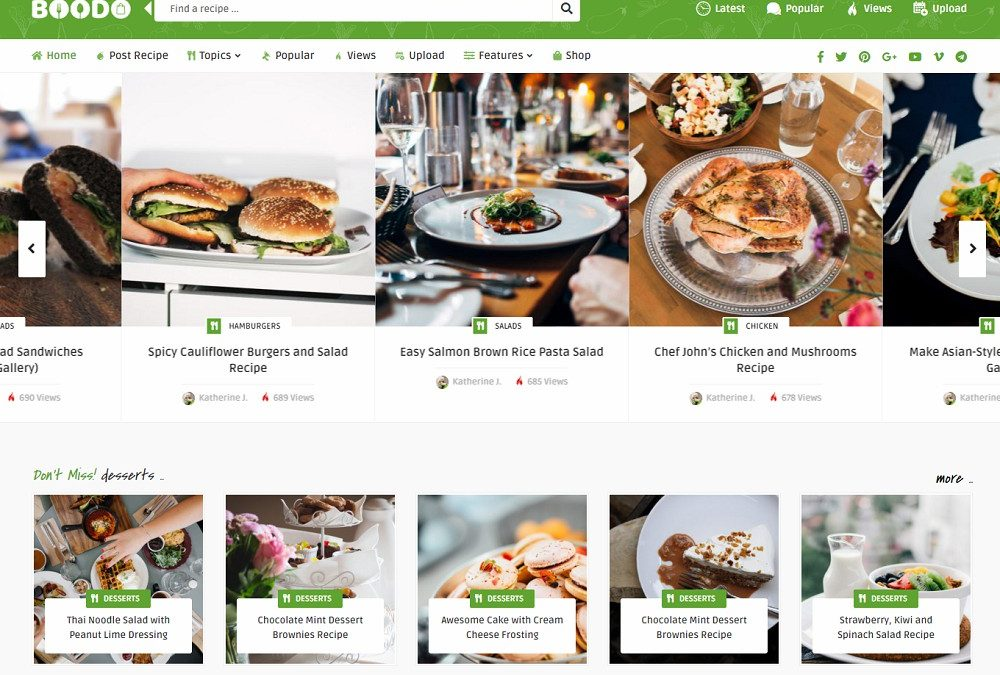 20 Best WordPress Cooking Themes 2020