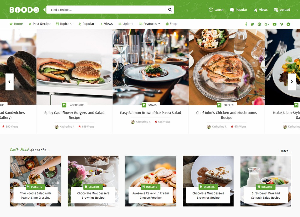 Best WordPress Cooking Themes
