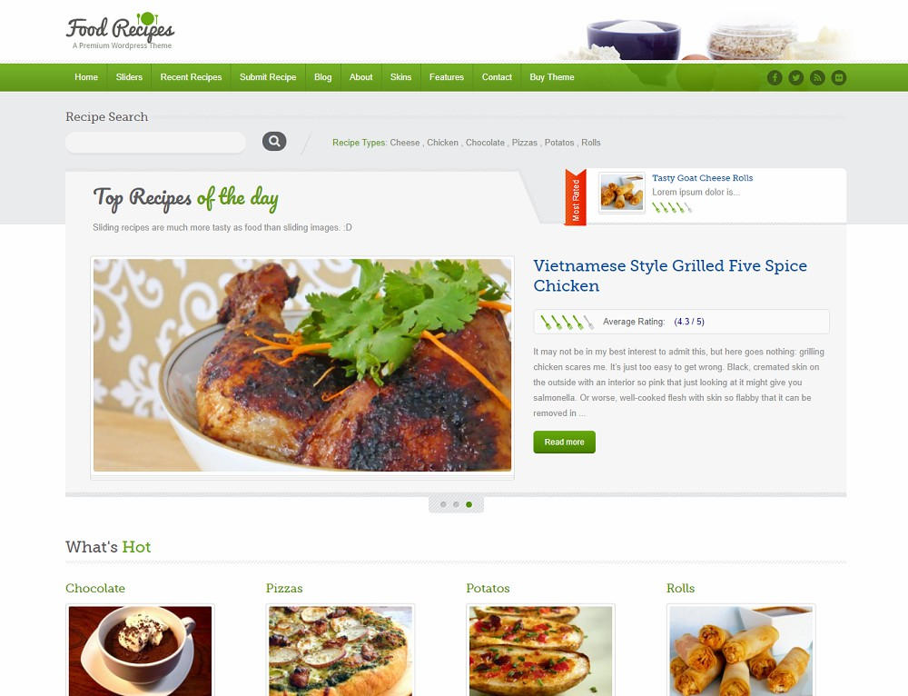 wordpress cooking theme