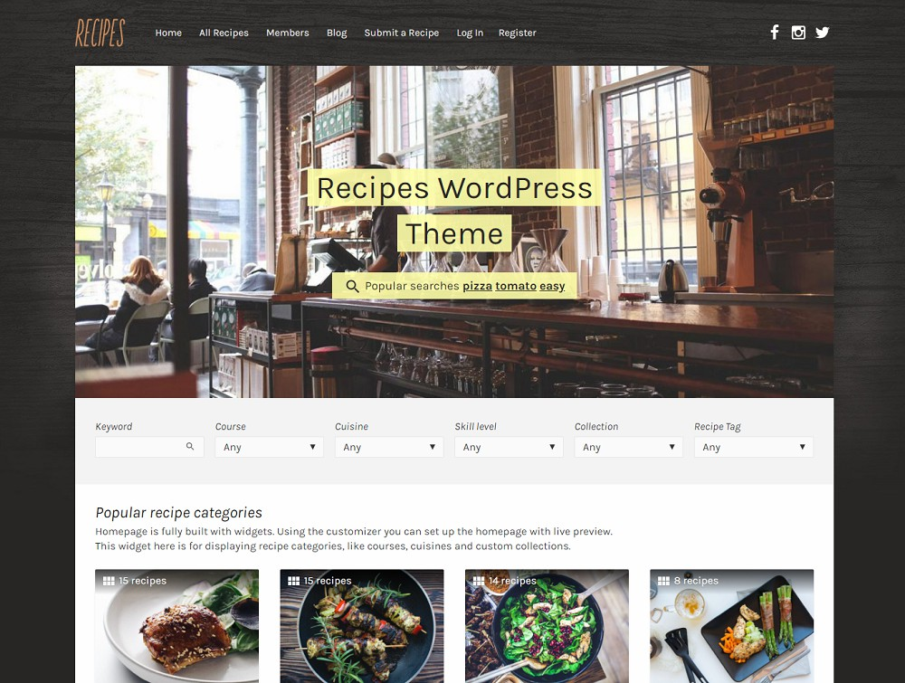 food blog themes