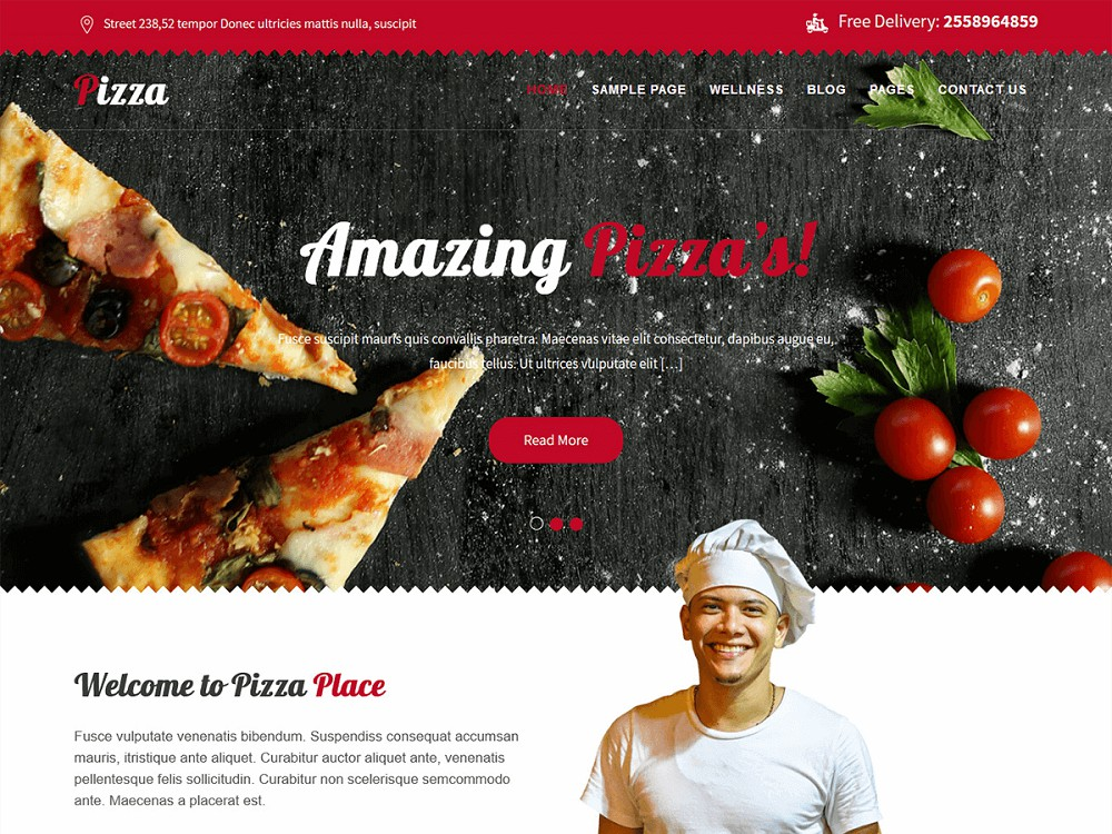 Best WordPress Pizza Theme Free