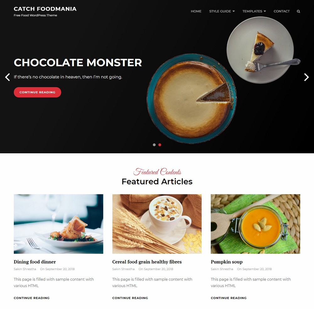 pizza delivery wordpress theme