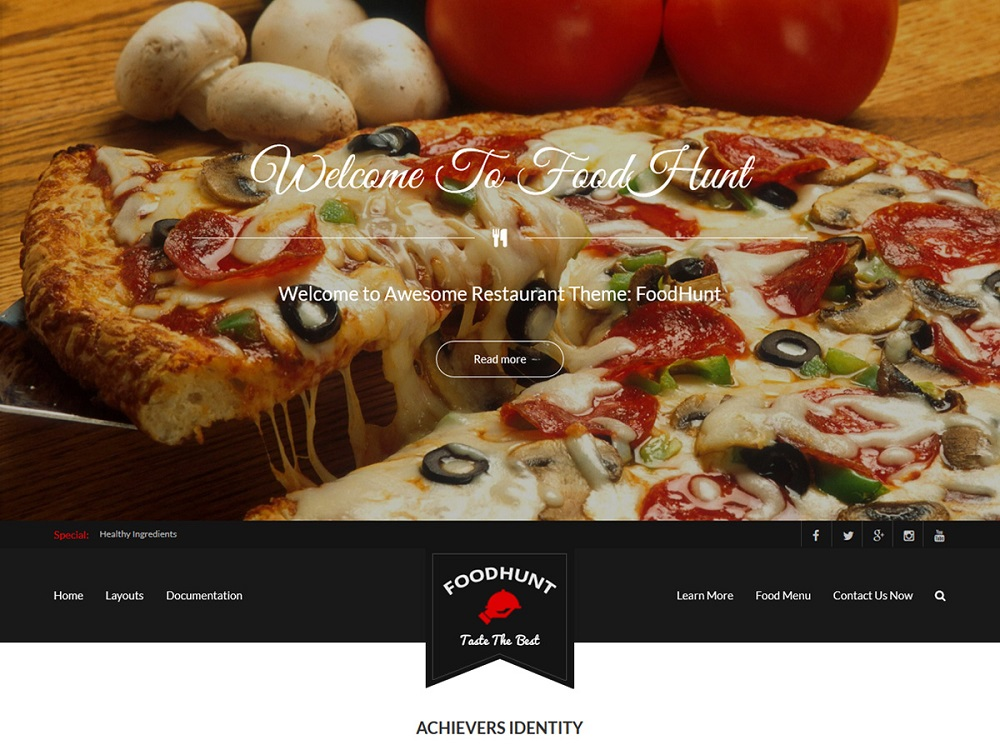 wordpress pizza theme free