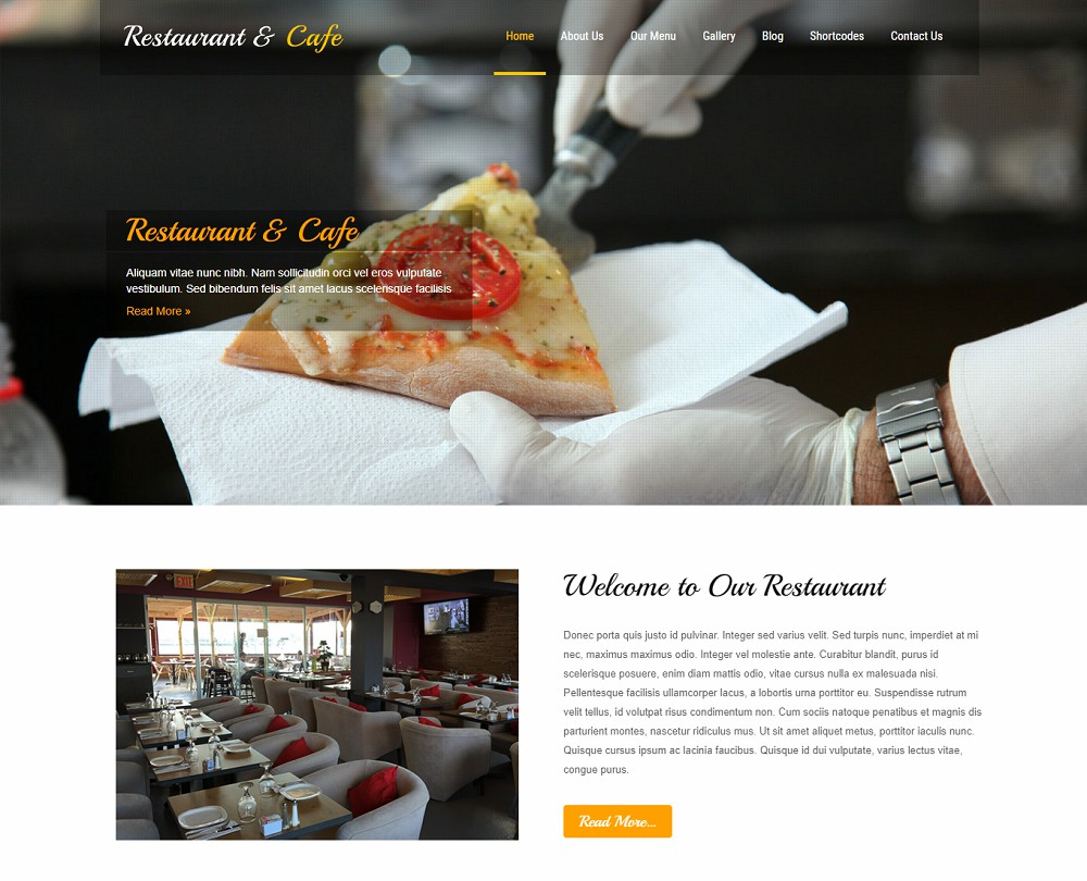 pizza website template wordpress