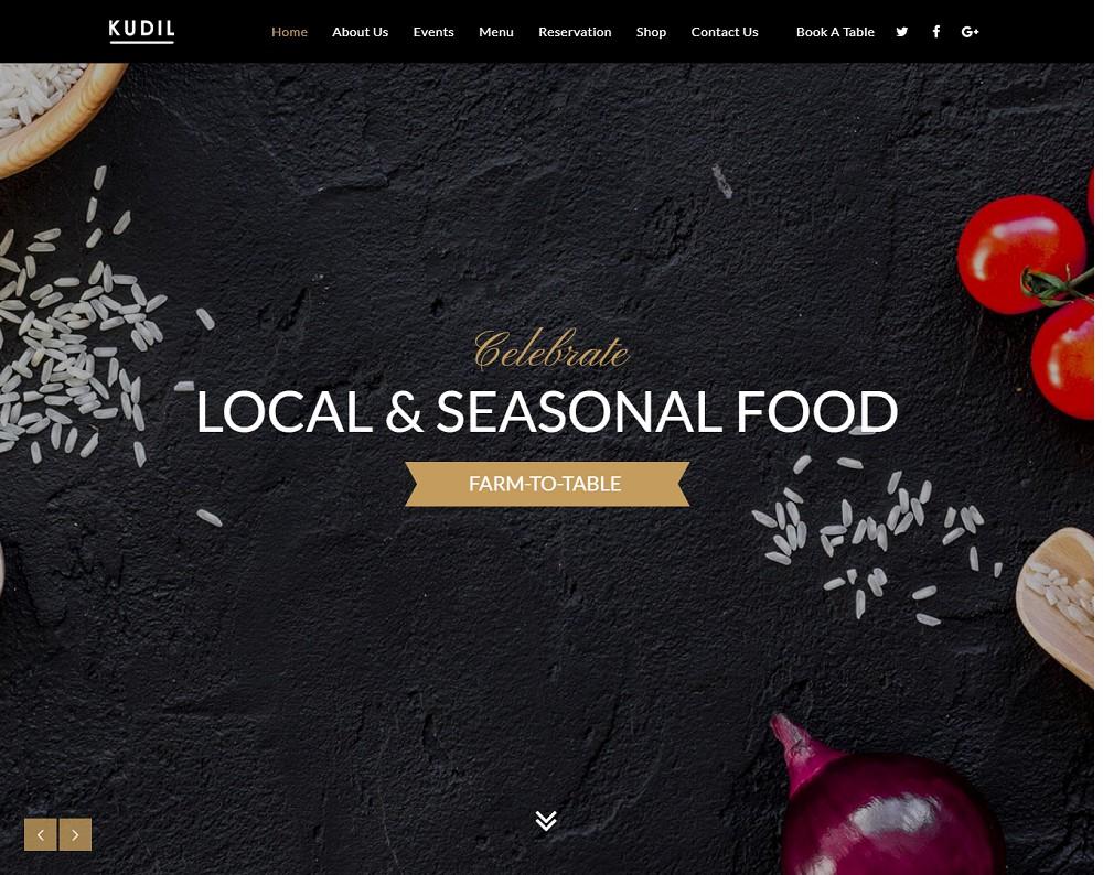restaurant menu themes