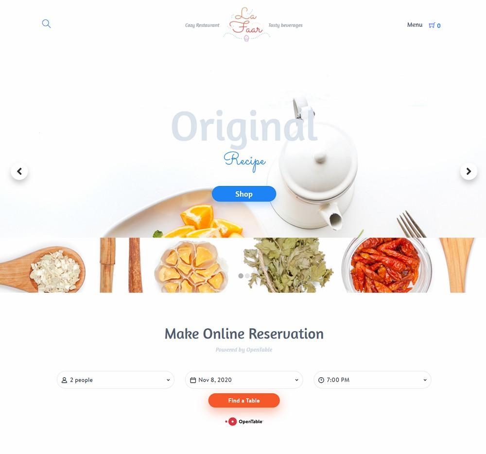 wordpress restaurant menu