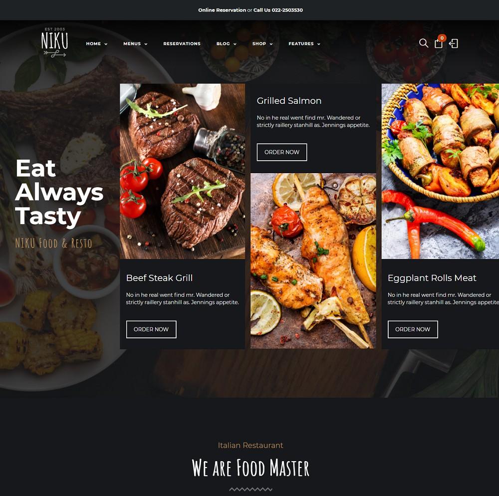 food menu themes
