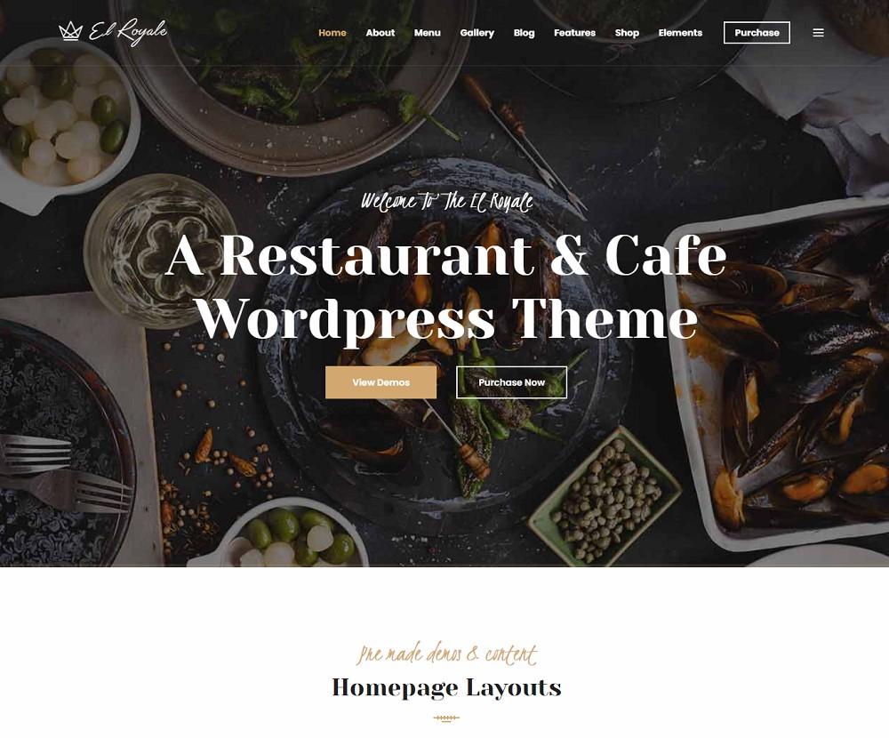 restaurant cafe bistro responsive theme
