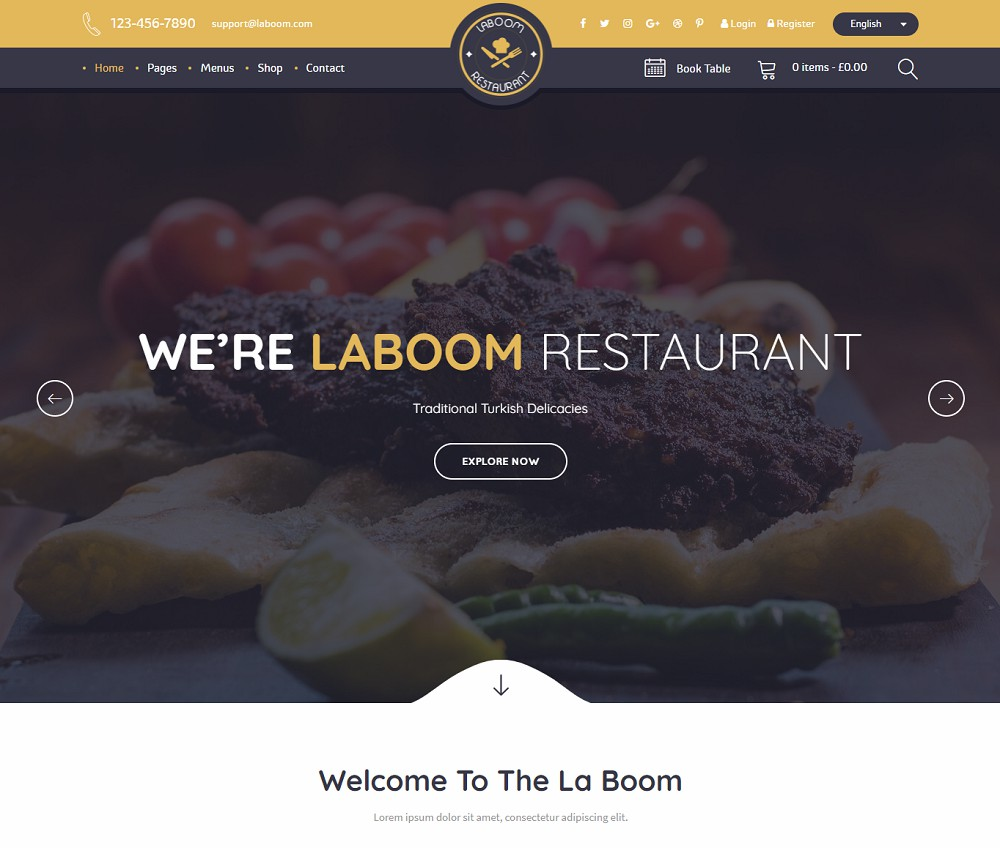 bistro wordpress theme