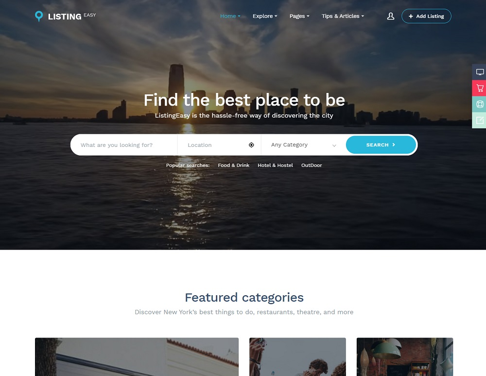 ListingEasy - best restaurant directory theme WordPress